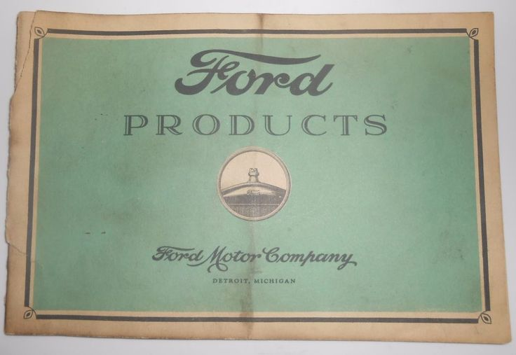 1920 Ford Products Catalog Cars Trucks & Tractor Sales Brochure