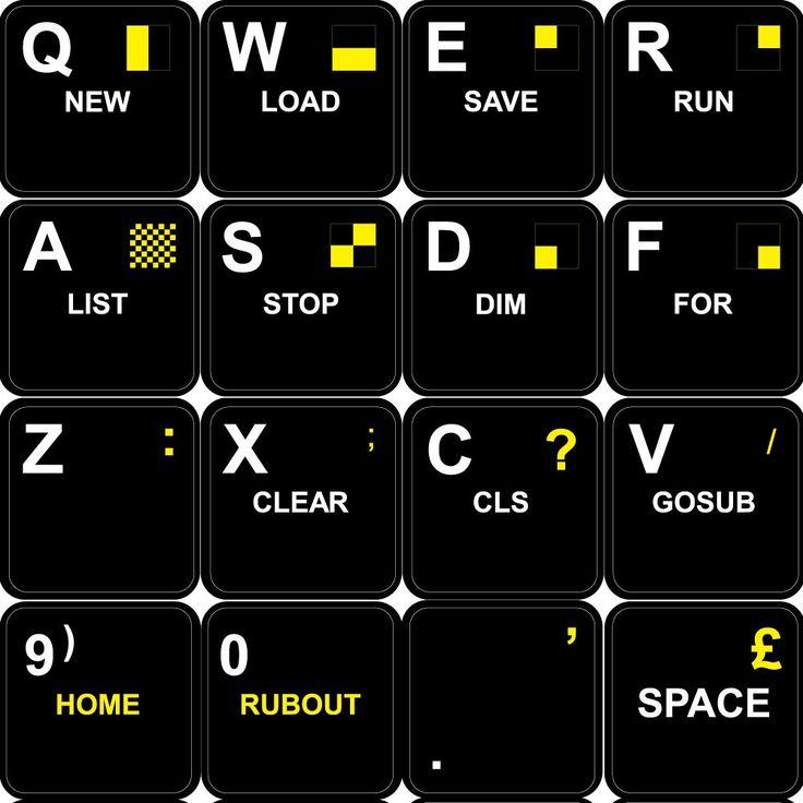 Sinclair ZX Spectrum from www.4keyboard.com
