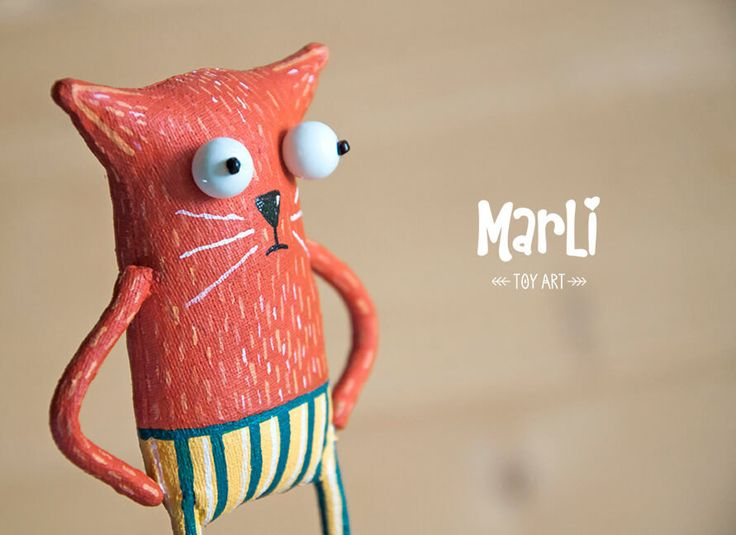 red cat by MarLitoys on Etsy