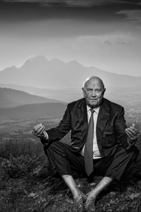 FW de Klerk in21 Icons: Portrait of a Nation, at Museum of African Design, June 16 – Aug 17, 2014 #art #photography #portraits #southafrica
