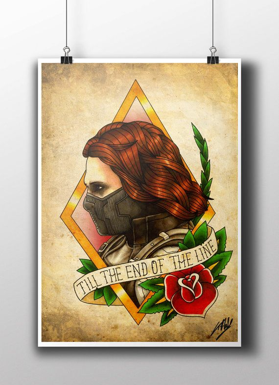 The Winter Soldier Tattoo Parlour Print by TattooHarbourPrints