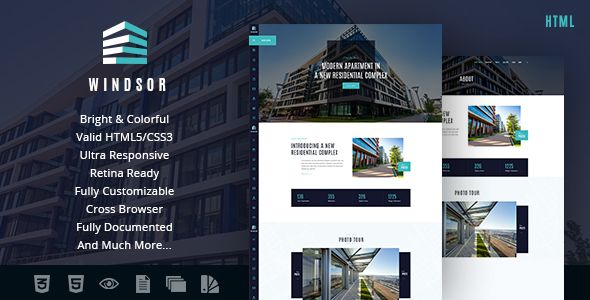 Windsor | Apartment Complex / Single Property Site Template . Windsor has features such as High Resolution: Yes, Compatible Browsers: IE10, IE11, Firefox, Safari, Opera, Chrome, Columns: 4+