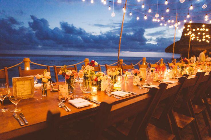 Bali Wedding Reception Table Set up