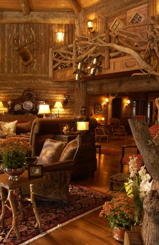 log cabin interiors design pictures remodel decor and ideas page 132 - Log Homes Interior Designs