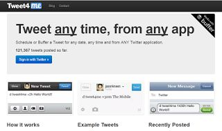 Tweet any time, from any app