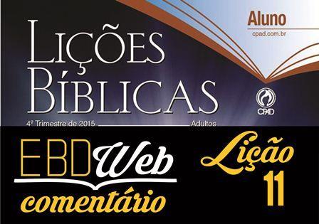 Comentário sobre a lição 11: Melquisedeque Abençoa Abraão, publicado no Blog do Luciano de Paula Lourenço.