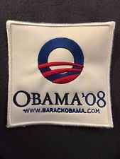 ~PRESIDENT BARAK OBAMA~2008 CAMPAIGN PATCH 4x4~ Super Rare & Unique! ~