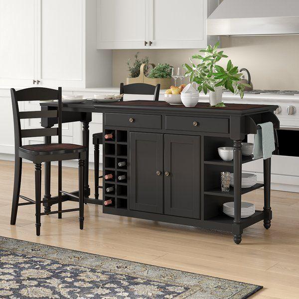 Kidd 3 Piece Kitchen Island Set Kitchen Design Kitchen Cabinet