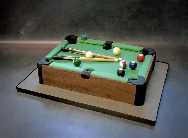 Pool table cake | docrafts.com