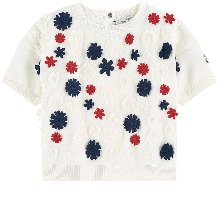 Moncler - Short flower-printed sweater - Maglia