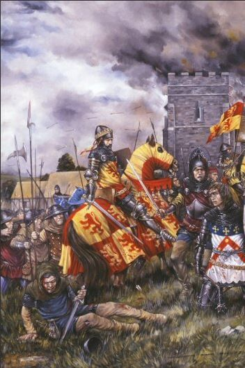 In 1401 Owain Glyndwr began a campaign for Welsh independence. He was crowned Prince of Wales at Carrog on the banks of the Dee and set up a parliament at Machynlleth. In 1402 Edmund Mortimer, Lord of Wigmore, who had been sent by Henry IV to put down the revolt, met the Welsh at Pilleth on Bryn Glas Hill. Owains army totally destroyed the English forces and captured Mortimer, who threw in his lot with Owain.