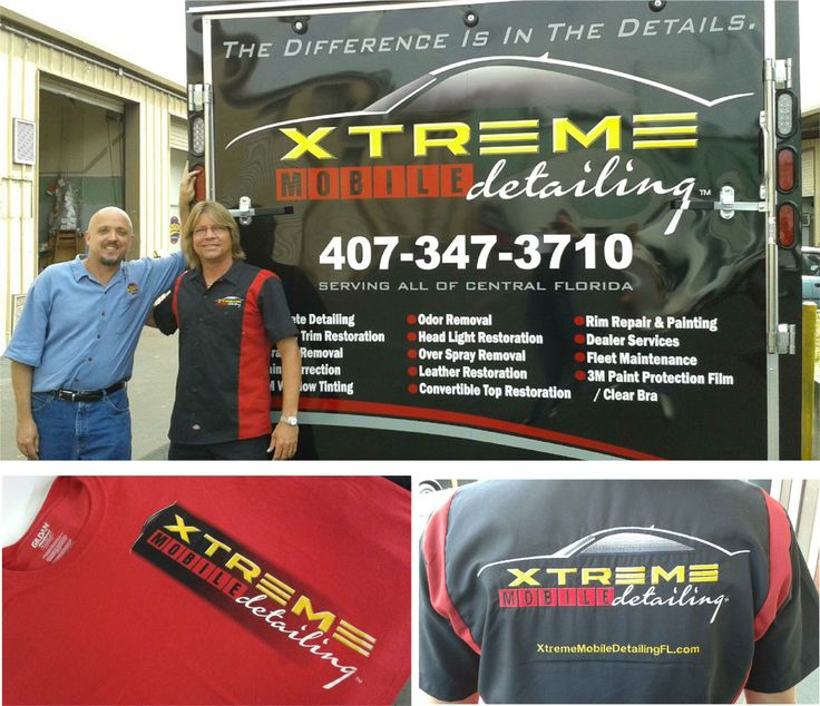 Xtreme Mobile Detailing vinyl, embroidery & tshirts.