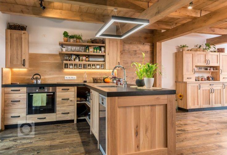 rustikální kuchyně dřevo