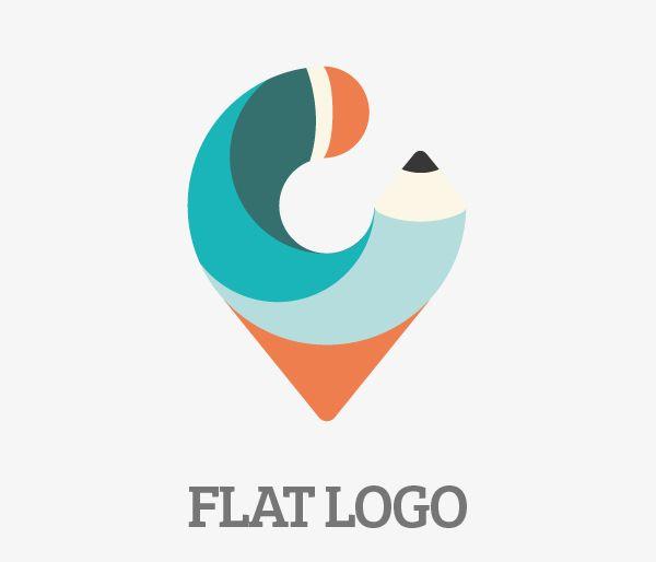 Flat logo design & concept