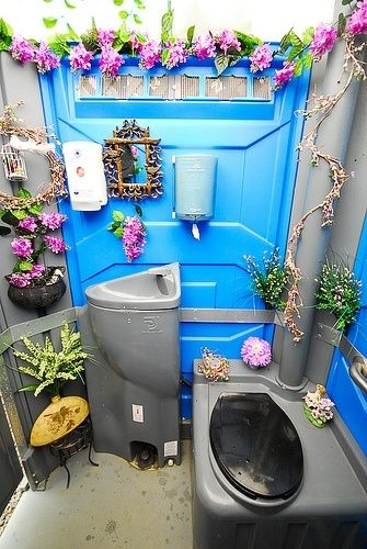 Porta Potty For Outdoor Wedding  Lol port a potty decor