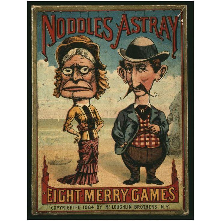 Antique game- Noodles Astray eEight Merry Games 1884 McLoughlin Bros.