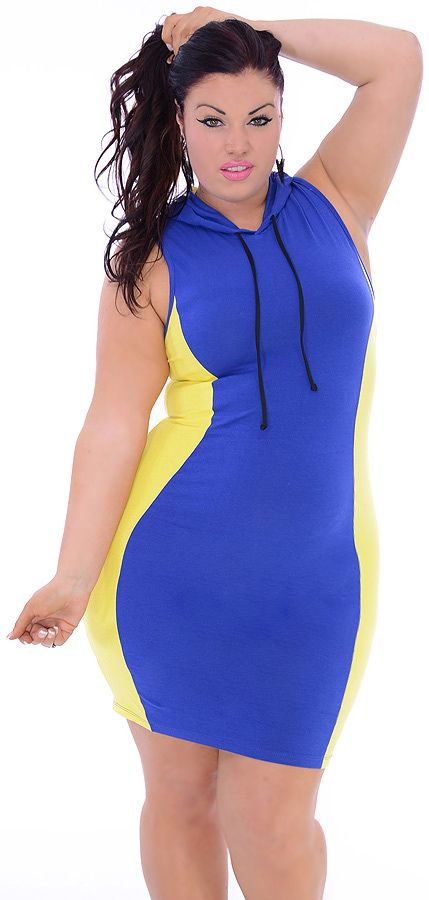 Flaming (Plus/Yellow/Blue)-Great Glam is the web's best sexy plus size online store clothing website for 1X 2X and 3X clothes for women and juniors.