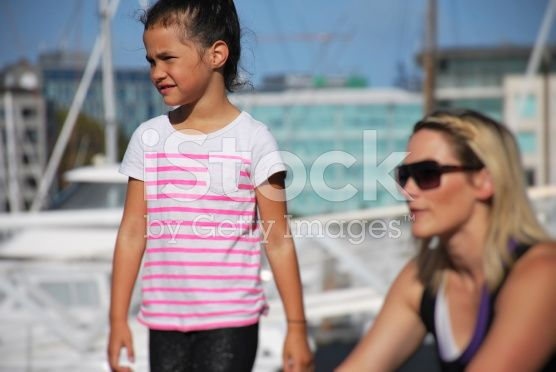 Daughter with Mother, Focus on Daughter royalty-free stock photo