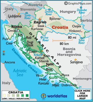 Croacia Mapa / Geografía de Croacia / Mapa de Croacia - Worldatlas.com
