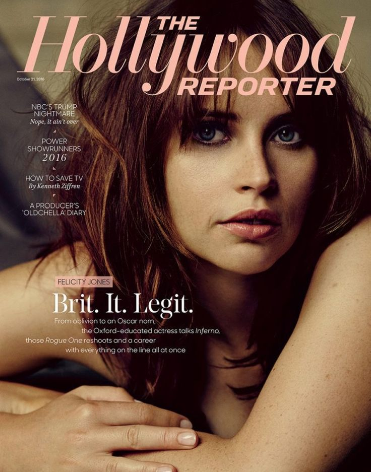 Felicity Jones on The Hollywood Reporter October 21, 2016 Cover