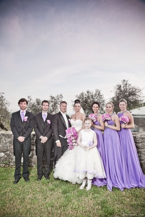 Our bridal party Bridesmaid dresses from: www.facebook.com/showstoppers123 Venue: La Rocca Visconteo Veneta, Lakw Garda, Italy