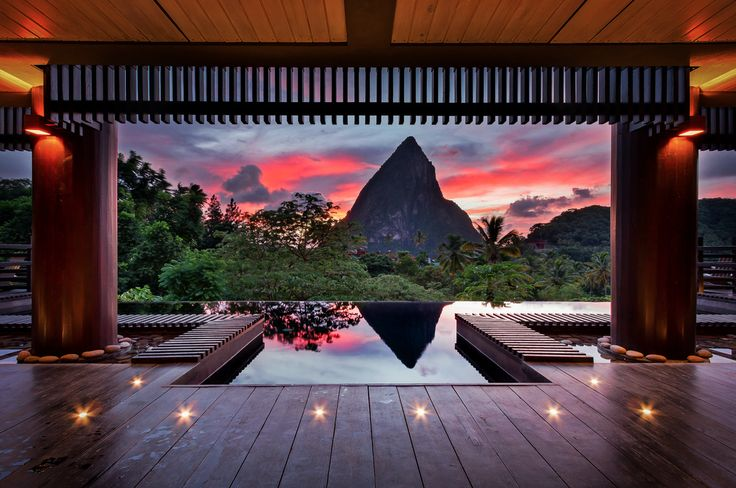 The Hotel Chocolat, St Lucia: Favorite Places, Scenic Photography, Sunsets, Beautiful, Theater Curtains, Desktop Wallpapers, Pools, Photography Blog, Hotels Chocolat