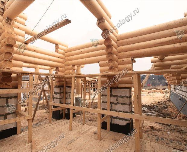 Проект комбинированного дома 2008г. Сборка комбинированных стен.