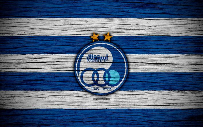 Download wallpapers 4k, Esteghlal FC, logo, Persian Gulf Pro League, soccer, Ira…