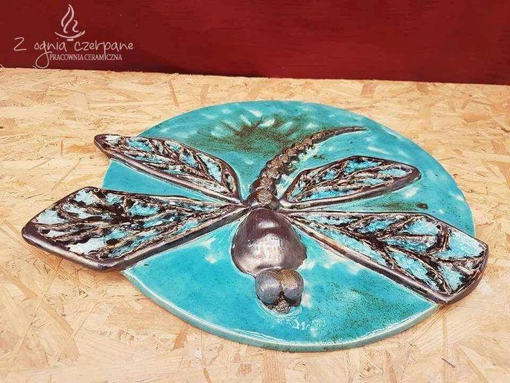 """Dekor """" Dragonfly """" by Z ognia czerpane"""