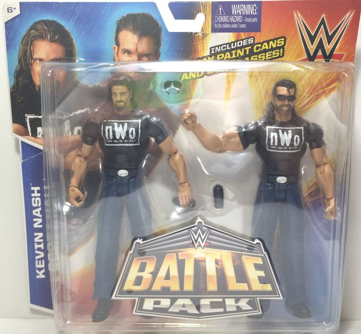 (TAS031809) - 2015 Hasbro WWF WWE nWo Wrestling Battle Pack - Nash & Scott Hall