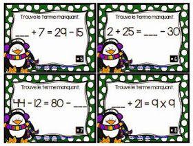 La classe de Karine: Cartes à tâches de Noël