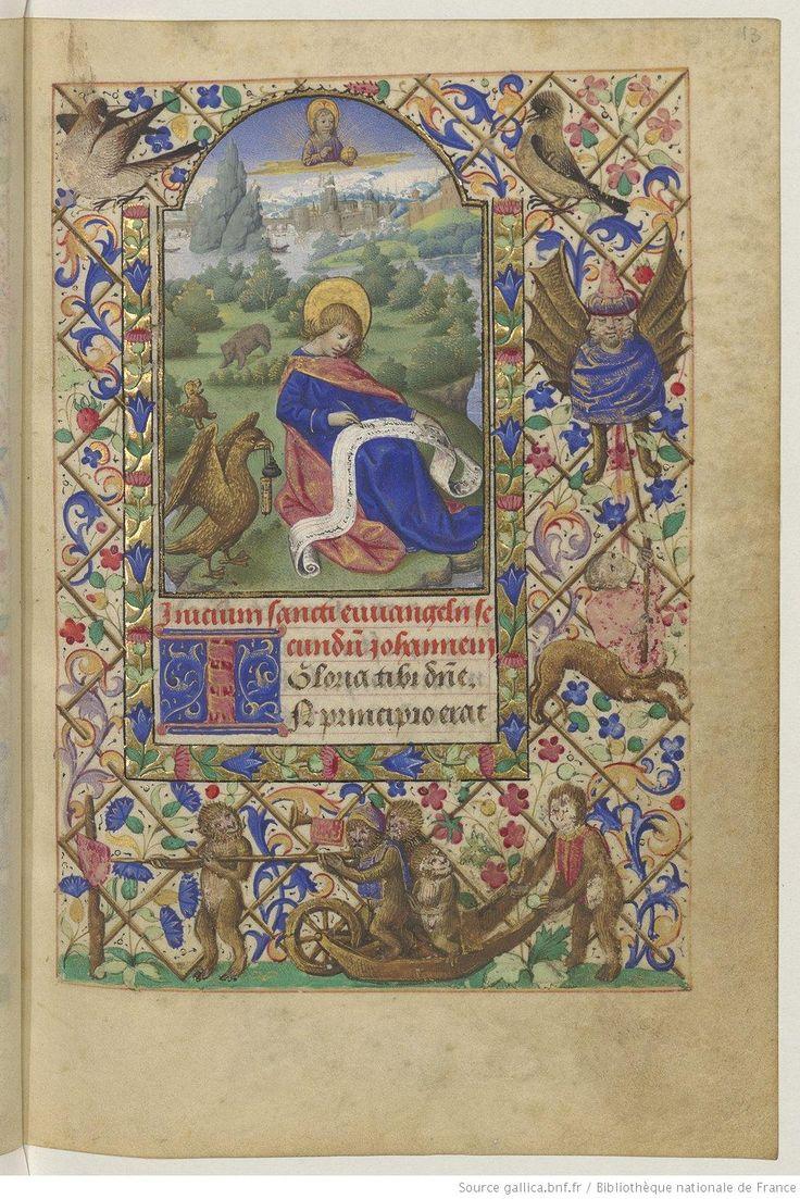 Titre : Horae ad usum Parisiensem Date d'édition : 1401-1500 Type : manuscrit NAL 3115 13r