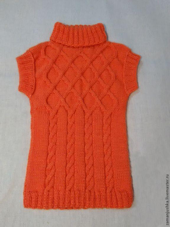 Купить Жилет для девочки - оранжевый, весна, жилетка, для девочки, одежда для девочки, ручная работа