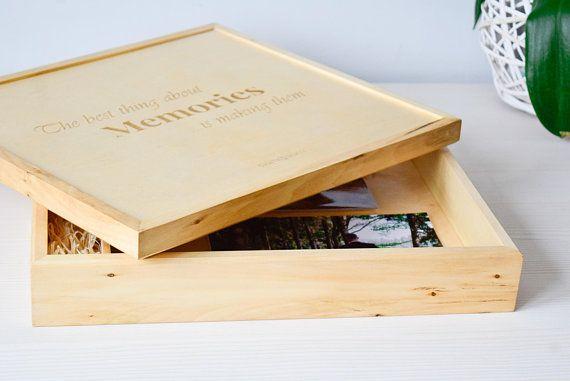 Wedding Photo Album Photo Box Wooden Box Usb Casas Pequenas Com Piscina Casa Pequena