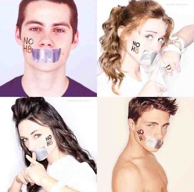 Teen Wolf - NOH8 - Dylan O'Brien, Holland Roden, Crystal Reed,  Colton Haynes