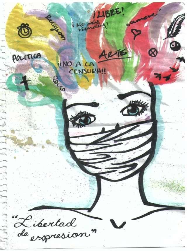 Dibujo de Nicole sobre Derechos Humanos