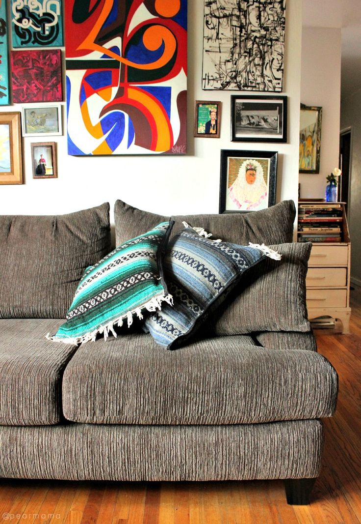 DIY: How to make your own Mexican serape pillows via pearmama.com