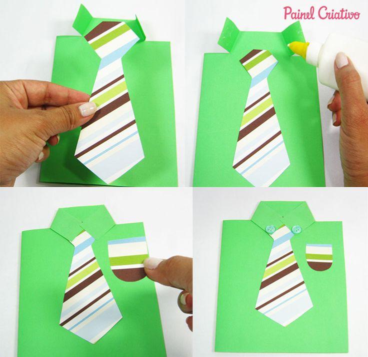 como fazer cartao papel gravata dia dos pais (2)