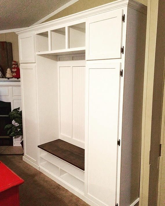 The Illinois Mudroom Unit With Storage Etsy Hall Tree Mudroom Laundry Room Storage