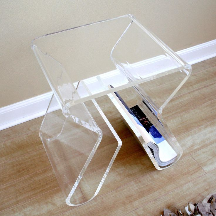 Baxton Studio Transparent Magazine Rack End Table | from hayneedle.com
