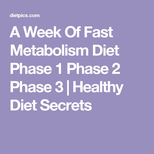 A Week Of Fast Metabolism Diet Phase 1 Phase 2 Phase 3 | Healthy Diet Secrets