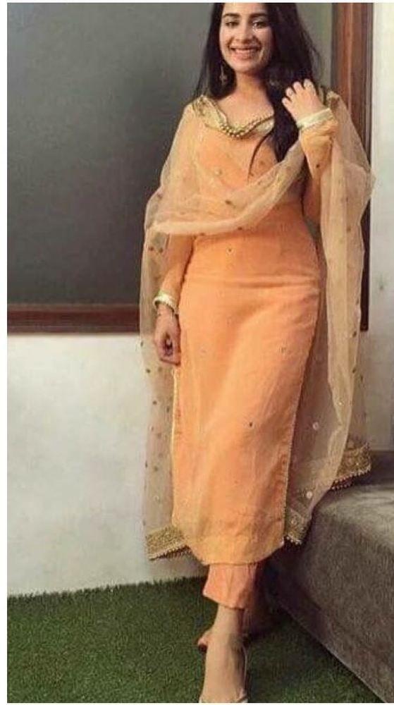c1840593d8 silk kameez punjabi patiala salwar party wear indian pakistani stitched suit  M L | eBay