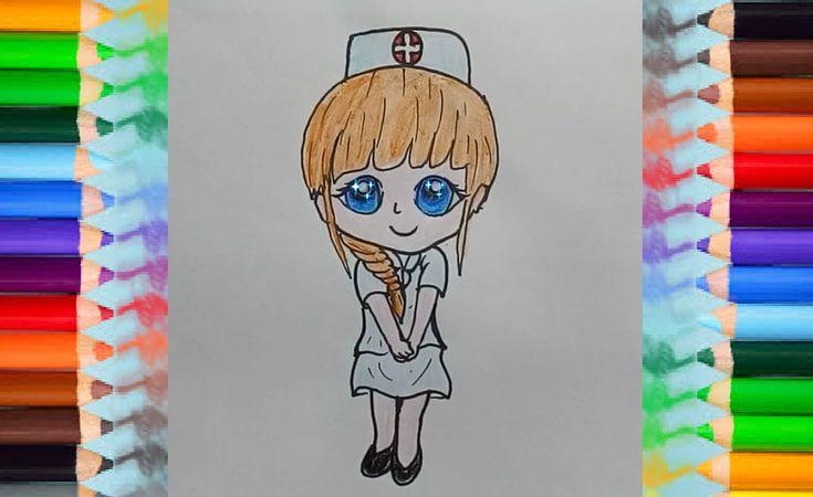 drawings easy drawing draw nurse simple children step visit