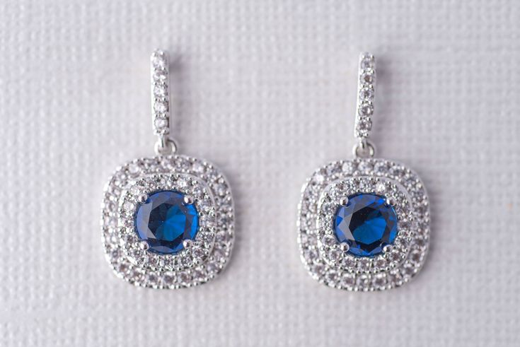 Excited to share the latest addition to my #etsy shop: Celine Cubic Zirconia Earrings - Silver and Royal Blue, Wedding Jewelry, Bridal Earrings, Mother of the Bride Earrings, Engagement Earrings http://etsy.me/2udHv3p #bridalearrings #weddingearrings #royalblueearrings