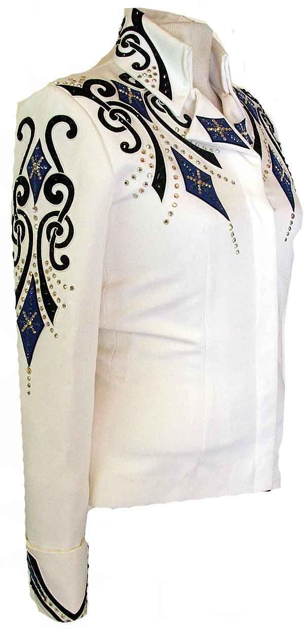 White Showmanship Jacket & Pants :: 232-1 :: Long Jackets & Tunics :: Show Me Again