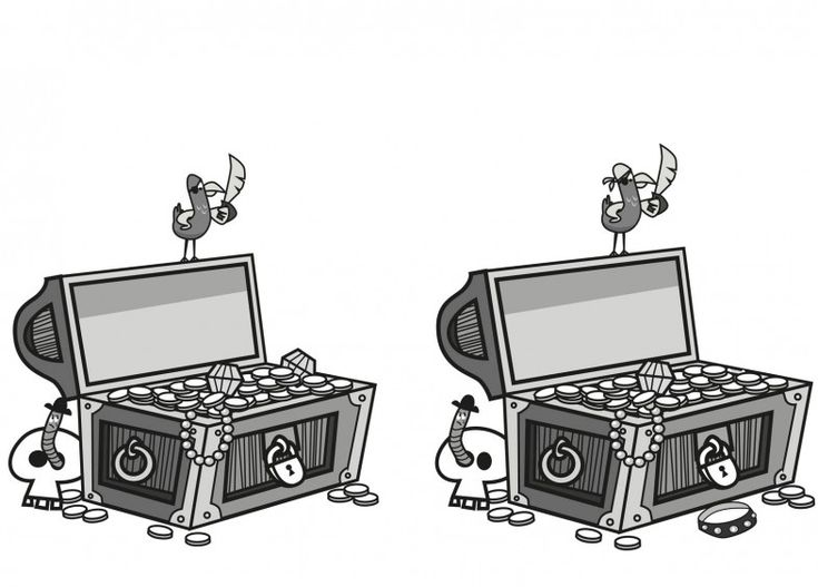Treasure chest - can you spot the differences?  © Amir Abou-Roumié