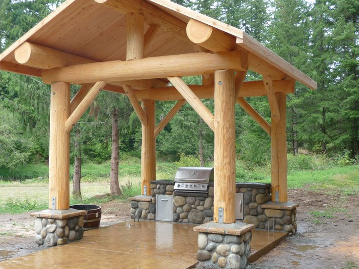 Log pavilions and picnic shelters from Mountain Log Homes ...