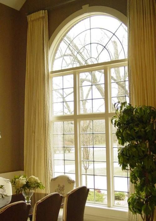 Curtains for high arched windows curtain menzilperde net for Arch top windows