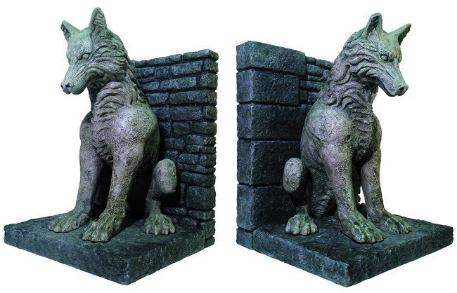 Game of Thrones Dire Wolf Bookends