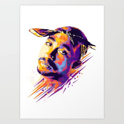 2pac: Dead Rappers Serie Art Print by Largetosti - $17.00